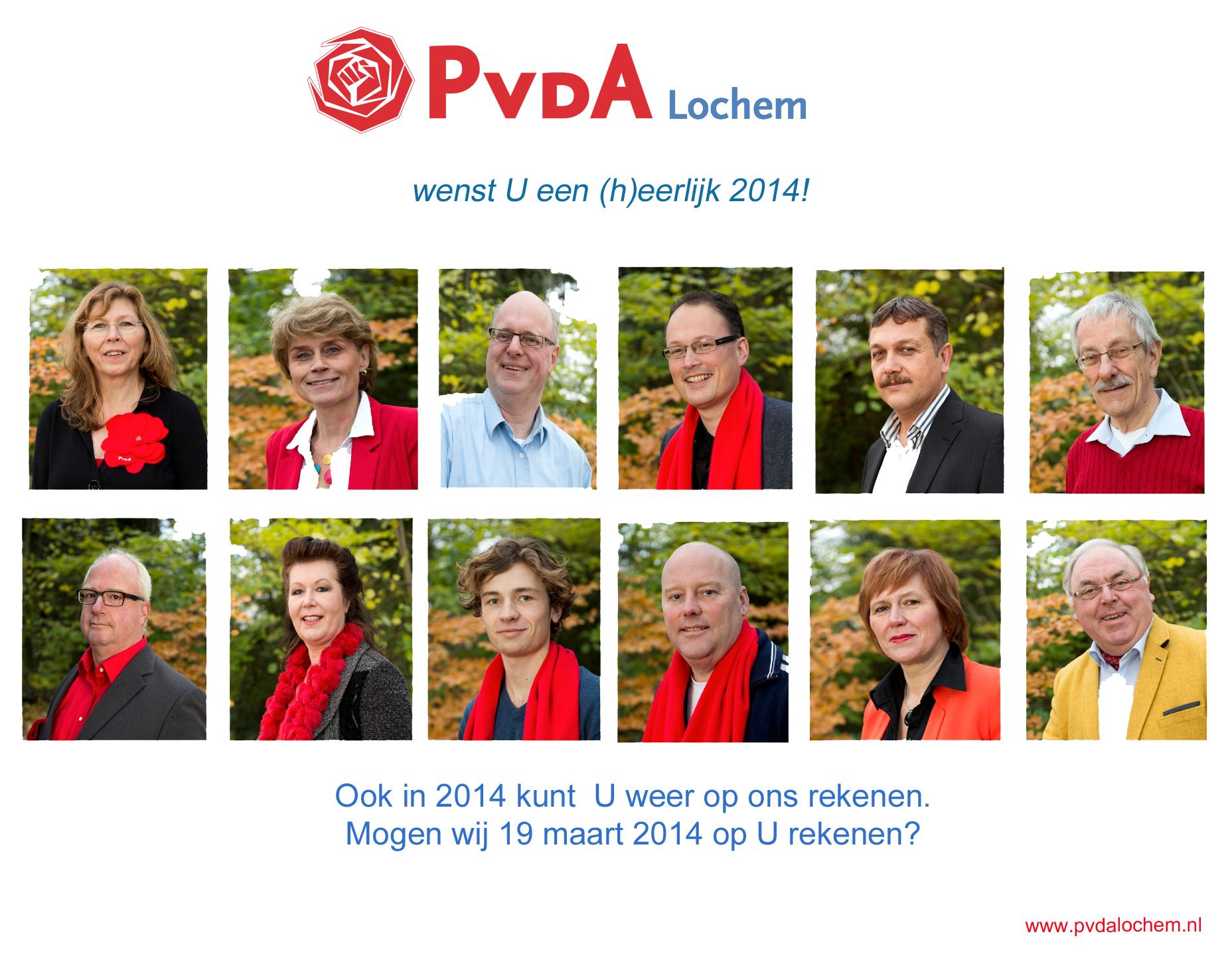 Nieuwjaarskaart PvdA 2014