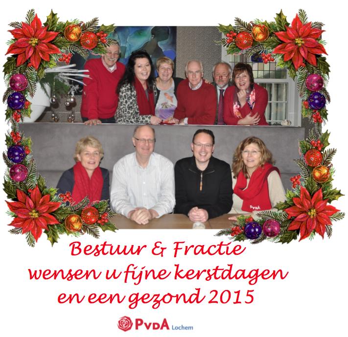 Kerstkaart PvdA Lochem 2014